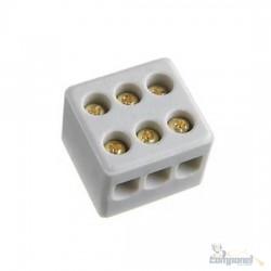 Conector Sindal Porcelana 3 Polos 6mm